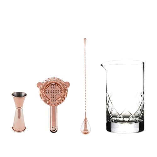 Cocktail Kit, Stirred Cocktail Set, Copper Barware, Cocktail Bar Tools, The Cocktail Shop, Australia