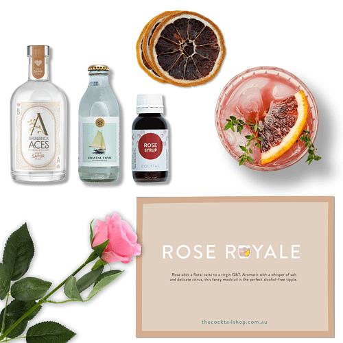 Rose Royale Cocktail Kit, Non-Alcoholic Cocktail Kits, Cocktails Delivered | The Cocktail Shop, Australia