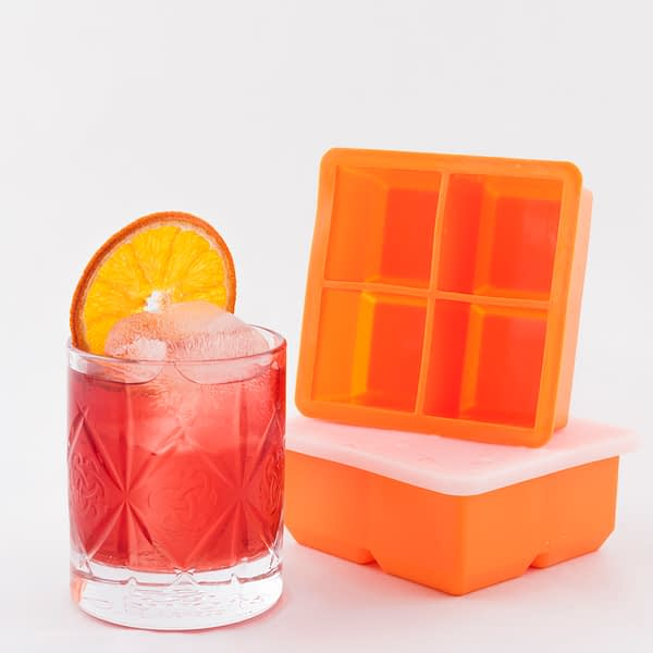 4 Large Ice Cube Silicon Ice Tray, Barware, Cocktail Bar Tools, The Cocktail Shop, Australia