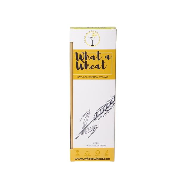 Whatawheat Drinking Straws 20cm, Wheat Straws, Environmentally Friendly, Natural Disposable Straws | Barware, Cocktail Bar Tools | The Cocktail Shop, Australia