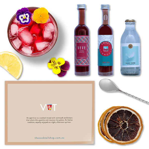 V&T Cocktail Kit, Aperitivo Spritz Cocktail Kits, Cocktails Delivered | The Cocktail Shop, Australia
